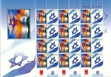 ISRAEL 2015 DUAL FLAG SERIES INDIA & ISRAEL SHEET MNH