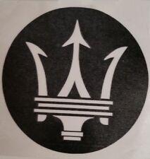 Maserati Trident Logo Emblem Car Hub Cap Exterior Laptop Vinyl Decal Sticker