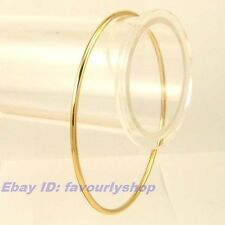 """8.3"""" 6g CLASSICAL SMOOTH THIN BANGLE 18K YELLOW GOLD PLATED BRACELET GEP 1003z"""