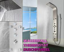 879 Edelstahl Duschpaneel,  DUSCHSÄULE, Wasserfall, REGENDUSCHE,Thermostat