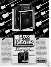 1983 A PROFESSIONAL BASS AMP BY MESA/BOOGIE AD