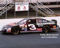 DALE EARNHARDT SR #3 GOODWRENCH RICHMOND 1998 8X10 PHOTO NASCAR WINSTON CUP