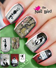 20 Mixed Set BANKSY Nail Art Nail Decals Nail Transfers Nail WRAPS