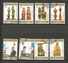 1981 échecs Sao Tomé-et-Principe série 8 timbres anciens oblitérés /T4380