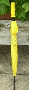 Vintage Funky Smiley Cube Yellow Umbrella