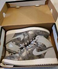 Nike Air Jordan 1 Retro HI PREM GG Wolf Grey Metallic Silver White Size 7Y