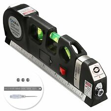 Multipurpose Laser Level Metric Tape Ruler Adjustable Standard Measure Line Tool