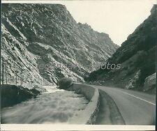 1936 Ogden Canyon Utah Original News Service Photo