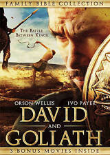 DVD David and Goliath: Includes 3 Bonus Movies NEW Family Bible Collection