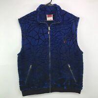 Spyder Vest Men's Size Large Blue Fleece Zip Up Made In USA