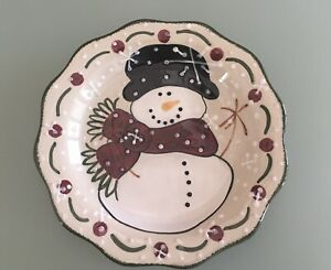 """Expressly Yours 8"""" Snowman w/Red Scarf Serving Piece"""