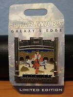 Disney Star Wars Galaxy's Edge Countdown X-Wing Pilot Poe Dameron Pin LE3500