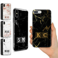 PERSONALISED ROSE GOLD MARBLE BLACK CUSTOM NAME PHONE GEL COVER FOR IPHONE Xr Xs