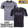 New Genuine JCB Trade Heavyweight Mens Short Sleeve T Shirt Work Tee Crew Neck