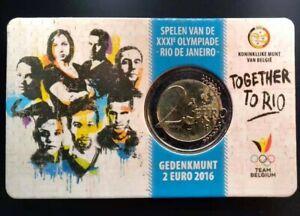 coincard 2 EURO 2016 BELGIQUE / BELGIUM - J.O. Rio de Janeiro - coin card carte