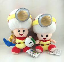 "2X Captain Toad Super Mario Bros Plush Toy Figure Treasure Tracker New 7"" & 8.5'"