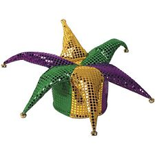 Glitz 'N Gleam Jester Hat w/bells Party Accessory 1 count