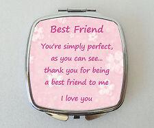 BEST FRIEND Compact Mirror Fun Handbag Beauty Cosmetic Makeup Novelty Gift
