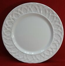"""PIER 1 china BASKET RELIEF pattern Dinner Plate - 10-1/4"""""""