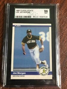 1984 Fleer Update #U-80 Joe Morgan SGC 96 MINT HOF CENTERED..SHARP CARD