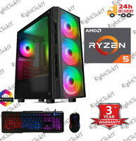 AMD RYZEN 5 3400G DDR4 VEGA 11 Windows 10 240GB SSD 4 Fans  Gaming Pc