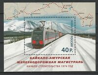 Russia 2014 Trains railway MNH Block