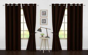 "Blackout Curtains Grommet Window 4 Panel by Ample Decor (46"" X 63""/84""/95"")"
