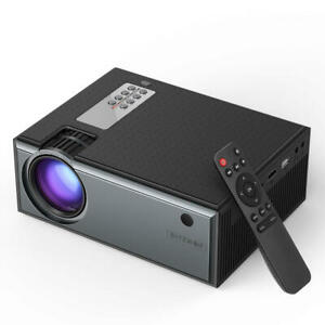BlitzWolf LCD Projector 2800 Lumens 720p Input Portable Smart Home Theater Ports