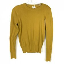 Forever 21 Womens Size M Mustard Yellow Crew neck Sweater Knit Top Medium Ribbed