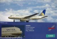 Herpa Wings 1:500 Airbus A319 United Airlines N855UA  526883  Modellairport500