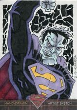 DC Superman The Legend Sketch Card By Unknown Artist