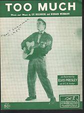 Too Much 1956 Elvis Presley Sheet Music