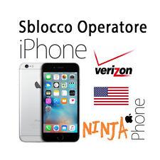 SERVICE SBLOCCO OPERATORE UNLOCK IPHONE UP TO 6S+ SPRINT O VERIZION USA