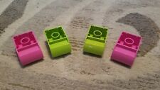 Lego Duplo Lot Of 4 Specialty Blocks 2x2 2x3 Curved Arch Pink Lime