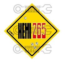 HEMI CHRYSLER VALIANT - Badge Style Stickers - HEMI 265 BONNET Roadsign  #9
