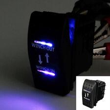 12V Waterproof Rocker Switch Blue LED Winch In Out Momentary Car Motor Sales