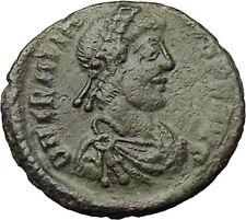 Gratian 367AD  Ancient Roman Coin Cross ROMA w globe & spear i29839