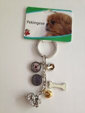 Pekingese Key Chain With Charms From Little Gifts ~New~
