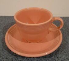 Fiesta Ware Rose Tea Coffee Tea Cup & Saucer HLC Homer Laughlin