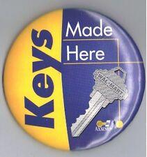 "Keys Made Here 3"" Advertising Pinback Button WalMart House Car Axxess+ Hardware"