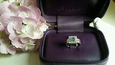 *Only One* Brand New Philippe Charriol Flamme Blanche Blue Topaz & Diamond Ring