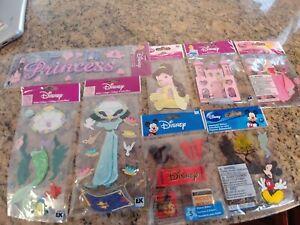 Jolee's Boutique 8 Disney princess Aurora Ariel Jasmine Mickey scrapbook sticker