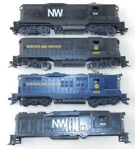 Athearn HO N&W Norfolk & Western GP9 Diesel Locomotives - Lot of 4 ~ F34