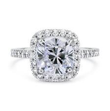 1 3/4 Ct Cushion Cut D/Vs2 Diamond Solitaire Engagement Ring 14K Gold
