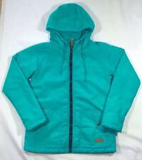EUC Women's Billabong Teal Green Fleece Lined Hooded Coat Jacket-Size M