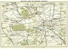 A4 Poster-MAPPA FERROVIE del centro di Londra circa 1899 (sotterraneo PICTURE ART)