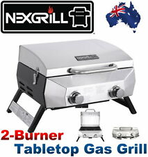 "NEW Nexgrill 2 Burner Tabletop Portable Gas Grill 20000BTU 304 Grade BBQ 19"" Gas"