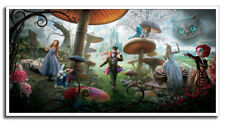 "Alice In Wonderland 24""x12"" Johnny Depp Classic Movie Silk Poster Wall Decor New"