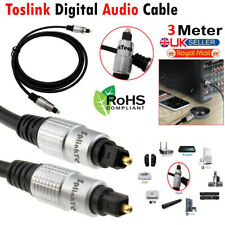 3M PURE TOSLINK OPTICAL CABLE DIGITAL AUDIO GOLD LEAD SPDIF DTS SURROUND SOUND