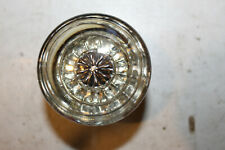 Antique (Vintage) Crystal (Glass) & Brass Door Knobs